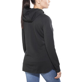super.natural W's Relax Zip Hoodie Jet Black